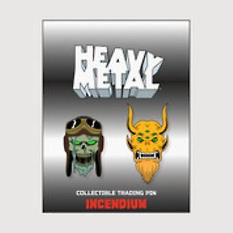 Heavy Metal Lapel Pin Set B USA import