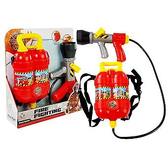 Firefighter set water pistol with large tank