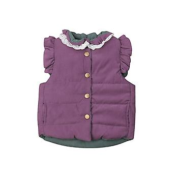 Baby Girls Winter Coat Jacket Sleeveless Waistcoat Outerwear