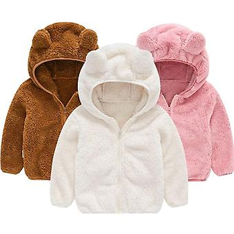 かわいい赤ちゃんの耳のコート、秋と冬、パーカージャケット