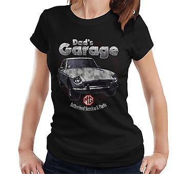 MG Pappor Garage British Motor Heritage Kvinnor&apos,s T-Shirt