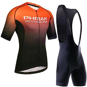 Cycling clothing set breathable anti-uv bicycle wear short sleeve jersey