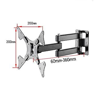 "Retractable Tv Wall Mount Pop Swivel Bracket Suitable For 14""-37"" Screen"