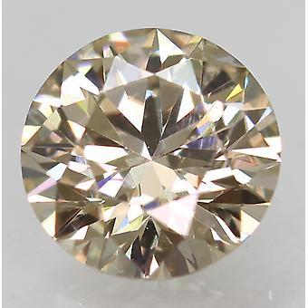 Cert 0,58 Karat Top hellbraun VVS2 Runde brillante natürliche Diamant 5,4 mm 3EX