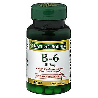 Nature's Bounty Vitamin B-6, 100 mg, 100 tabs