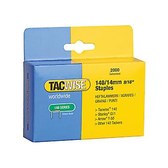 Tacwise 140 Heavy-Duty Staples 14mm (Type T50, G) Pack 2000 TAC0349