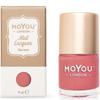 MoYou London Stamping Nail Laque - Maroon 9ml (mn027)