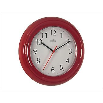 Acctim Wycombe Wall Clock Red 21414