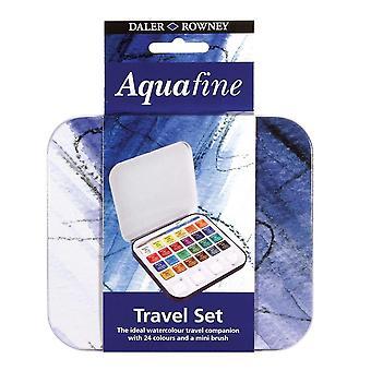 Daler Rowney Aquafine Aquacolour 24 Color Tin Set