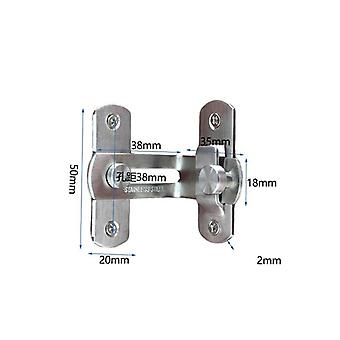 Trava da porta de aço inoxidável de 90 graus - ângulo reto Armário do parafuso de bloqueio deslizante