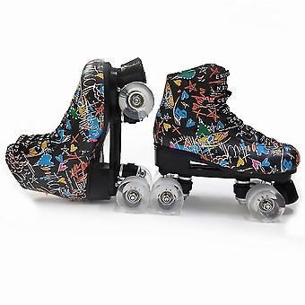 الأسطوانة Skates مزدوجة صف التزلج الأحذية انزلاق التزلج على الجليد تدريب الاطفال