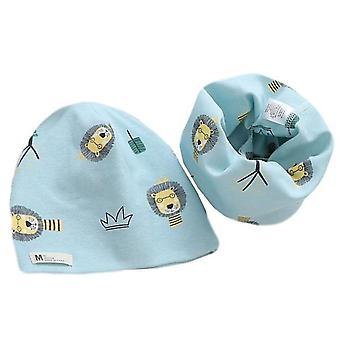 Bavlna Plyšový klobouk šátek Set, Cartoon Ovce Sova Hvězdy Baby Zimní Čepice