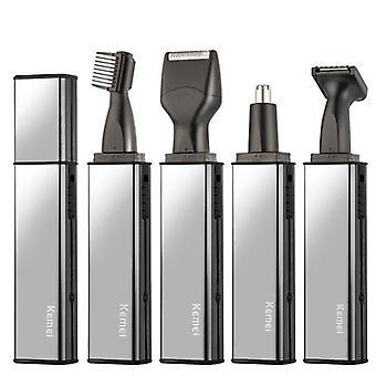 Trimmer naso ricaricabile, barba, sopracciglio, naso, capelli e macchina rasoio auricolare