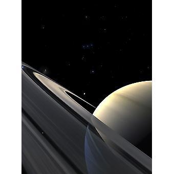 Anelli di Saturno Poster Print