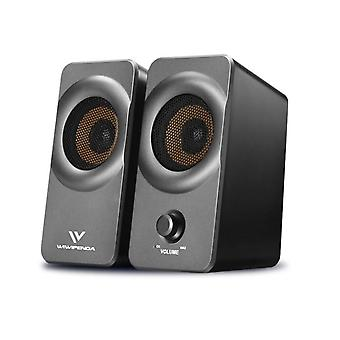 10w Usb+aux Wired Computer Speakers & Subwoofer For Laptop Desktop Phone