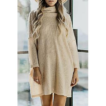 Long Sleeve Pocketed Knit Mini Dress