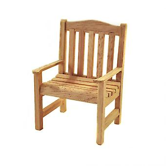 Dolls House Bare Wood Garden Chair Miniature Wooden Unfinished Patio Furniture