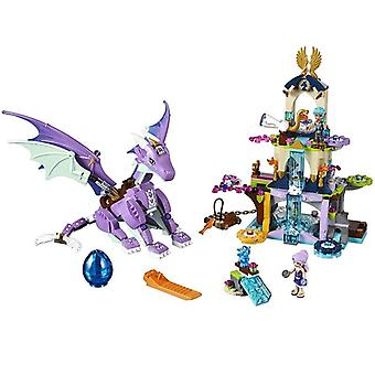 Elves Queen, Dragon's Rescue, Building Block, Figures Bricks, Model