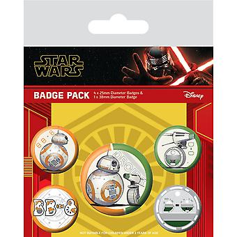 Star Wars The Rise of Skywalker Droids Badge Set (Pack de 5)