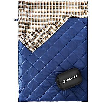 Bessport Double Sleeping Bag, Sleeping Bags for Adults Backpacking, Lightweight