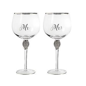 Herr&Frau Diamante Gin Glss Silber von Lesser & Pavey