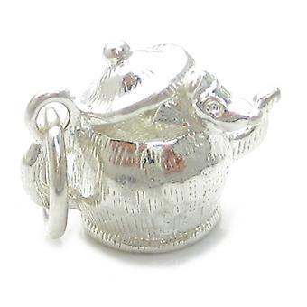 Maus in einer Teekanne Sterling Silber Charm .925 X 1 Mäuse Teekannen Süße Charms - 4422