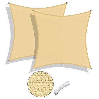 Yescom 2 Pack 12x12 Ft 97% UV Block Square Sun Shade Sail Canopy Outdoor Patio Poolside
