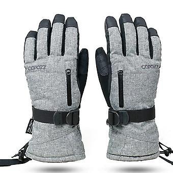 כפפות עמידות למים עם מסך מגע, כפפה תרמית סנובורד, חם, אופנוע שלג