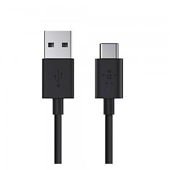 Belkin USB-IF Certified 2.0 USB-A to USB-C (USB Type C) Charge Cable, 6 Feet / 1.8 Meters - Black