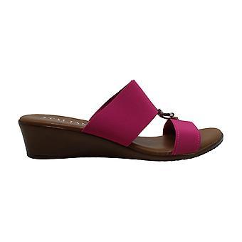 ITALIAN Shoemakers Womens 5871S8 Canvas Peep Toe Casual Platform Sandals