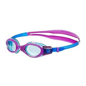 Speedo Futura Biofuse Flexiseal Junior Gogle pływackie amortyzowane dopasowanie - fioletowy