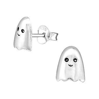 Children's Sterling Silver Ghost Stud Earrings