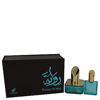 Riwayat El Misk Eau De Parfum Spray + vapaa.67 oz Travel EDP Spray Afnan 1.7 oz Eau De Parfum Spray + vapaa.67 oz matkustaa EDP Spray