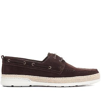 Jones Bootmaker hombres Pompey cuero zapatos de barco