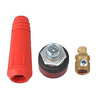 rød DKJ10-25 hurtigmontering kabelkontakt felles pluggkontakt for sveisemaskin