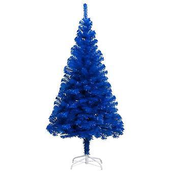 vidaXL arbre de Noël artificiel avec support bleu 150 cm PVC