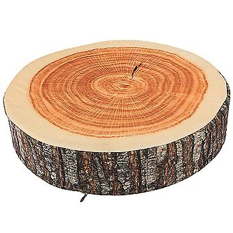 35.5x8cm Brown Tree Ring Back Cushion Stump Log Throw Pillow Home Office