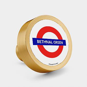 Messing Türknopf - Gold - Offizielle TFL London Tube Stop