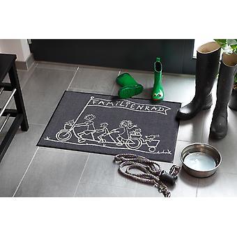 Salonloewe doormat family bike 50 x 75 cm washable