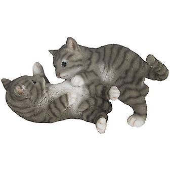 kitten 26.2 x 14.8 cm Polyresin grey/white