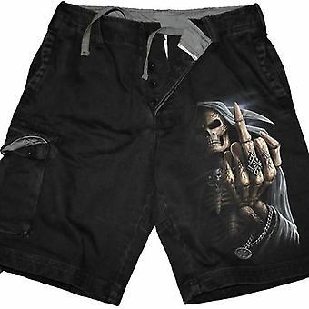 Bone Finger - Vintage Cargo Shorts Black