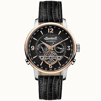 Ingersoll I00702b The Grafton Automatic Black Leather Mens Watch