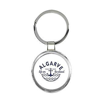 Geschenk Schlüsselanhänger: Algarve Leben am Strand Strand