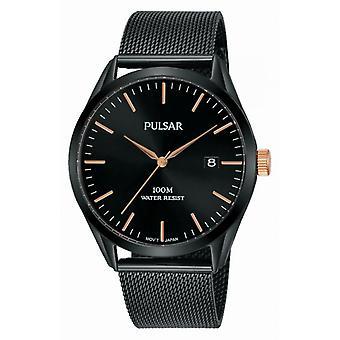 Montre Pulsar PS9573X1 - Montre Tradition Acier Noir Homme