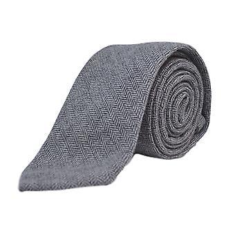 Corbata de espiga gris plata