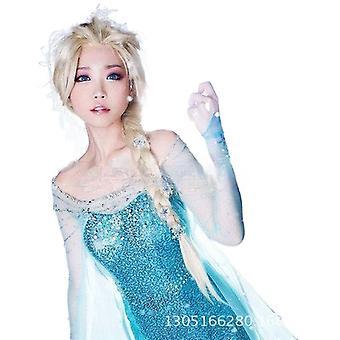 נשים פאה קפוא הנסיכה אלזה אותו כיסוי שיער צמה w163