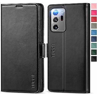FengChun Galaxy Note 20 Ultra Hülle, Note 20 Ultra Klapphülle, [Verdicktes TPU] [RFID Schützt]