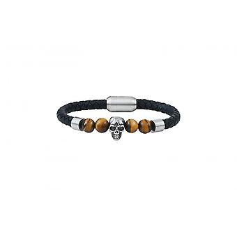 Bracelet Homme G-Force Bijoux BGFBR0009S-20 - Cuir Noir