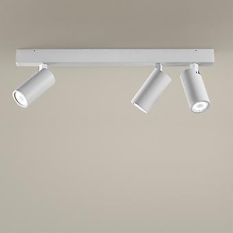 LEDS C4 Simply 3 lichamen Spotlight 4 Lichtbalk Wit GU10 7W