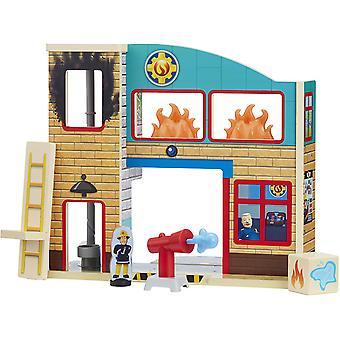 Fireman Sam Wooden Pontypandy Fire Station